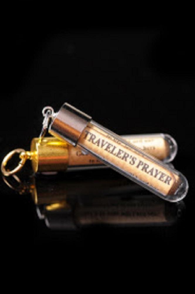 項鍊旅行者祈禱文(金色框)
